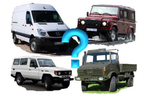 Überlegungen zu möglichen Fahrzeugen