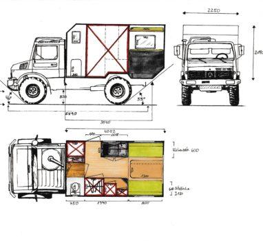 Skizze 1 Unimog
