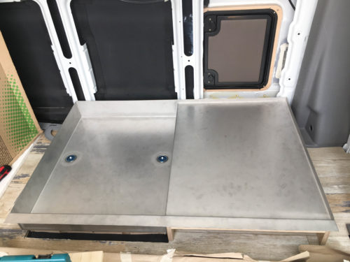Installation of the Shower Tray & Sub-Construction