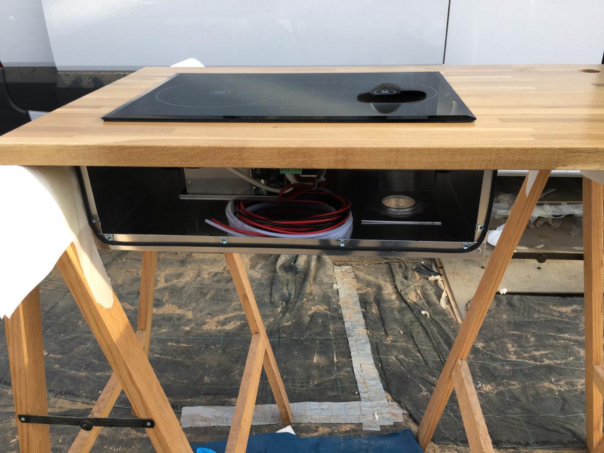 Installation of Webasto Dieselcooker X100 in Camper Kitchen
